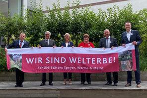 Die Repräsentanten der SchUM-Stätten. © Landeshauptstadt Mainz