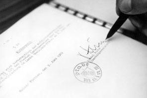Unterzeichnung eines Eingemeindungsvertrages 1969 © Quelle: Städtisches Presseamt, 1969