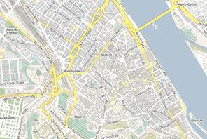Ausschnitt des Mainzer Stadtplans © Landeshauptstadt Mainz