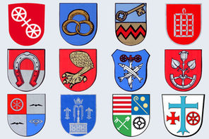 Wappen der Mainzer Stadtteile. © Landeshauptstadt Mainz