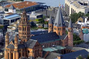 Dom, Luftaufnahme © Landeshauptstadt Mainz