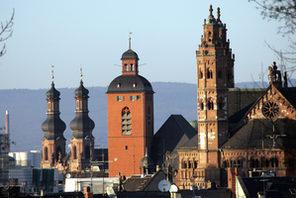 Mainzer Kirchentürme © Landeshauptstadt Mainz