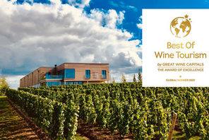 Ansicht Weingut mit Logo globaler Award © Weingut Thörle
