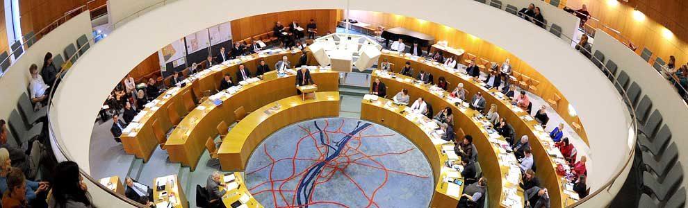 Blick in den Mainzer Ratssaal